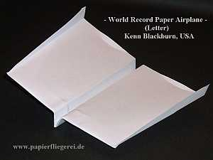 Papierflieger World Record Paper Airplane Letter