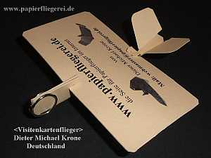Visitenkartenflieger - Buisness Card Airplane